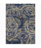 RugStudio presents Chandra Int INT-13455 Blue Hand-Tufted, Good Quality Area Rug