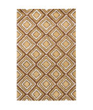 RugStudio presents Chandra Int INT-13473 Brown / Beige Hand-Tufted, Good Quality Area Rug