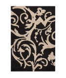 RugStudio presents Chandra Int INT-13475 Black Hand-Tufted, Good Quality Area Rug