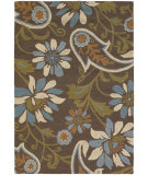 RugStudio presents Chandra Int INT-13477 Brown Hand-Tufted, Good Quality Area Rug
