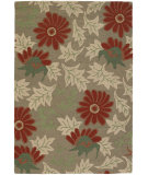 RugStudio presents Chandra Int INT-13480 Green Hand-Tufted, Good Quality Area Rug