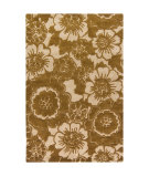 RugStudio presents Chandra Int INT-13482 Gold Hand-Tufted, Good Quality Area Rug