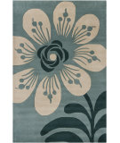 RugStudio presents Chandra Int INT-30003 Teal Blue Hand-Tufted, Good Quality Area Rug