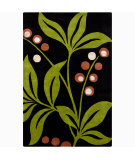 RugStudio presents Chandra Int INT-30005 Black / Green Hand-Tufted, Good Quality Area Rug