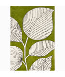 RugStudio presents Chandra Int INT-30009 Green / Ivory Hand-Tufted, Good Quality Area Rug