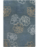 RugStudio presents Chandra Int INT-30011 Blue Hand-Tufted, Good Quality Area Rug