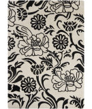 RugStudio presents Chandra Int INT-30014 Ivory / Black Hand-Tufted, Good Quality Area Rug