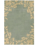 RugStudio presents Chandra Janelle Style JAN2602 Sea Green Hand-Tufted, Good Quality Area Rug