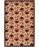 RugStudio presents Chandra Janelle Style JAN2637 Red Hand-Tufted, Good Quality Area Rug