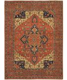 RugStudio presents Chandra Kamala KAM1511 Orange Hand-Knotted, Best Quality Area Rug