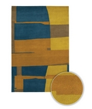 RugStudio presents Chandra Kathryn Doherty KAT2001 Multi Hand-Tufted, Good Quality Area Rug