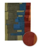 RugStudio presents Chandra Kathryn Doherty KAT2002 Multi Hand-Tufted, Best Quality Area Rug