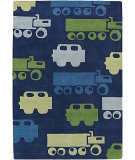 RugStudio presents Chandra Kids KID7624 Navy Hand-Tufted, Good Quality Area Rug