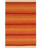 RugStudio presents Chandra Kilim KIL2221 Orange Woven Area Rug