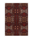 RugStudio presents Chandra Lina Lin32003 Charcoal/Red Hand-Tufted, Good Quality Area Rug