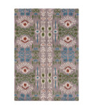 RugStudio presents Chandra Lina Lin32004 Teal/Antique White Hand-Tufted, Good Quality Area Rug