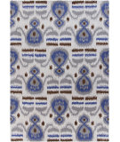 RugStudio presents Chandra Lina Lin32005 Grey/Blue Hand-Tufted, Good Quality Area Rug