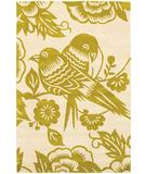 RugStudio presents Chandra Thomas Paul - Tufted Pile Lovebirds Corn-Cream LBCC Hand-Tufted, Good Quality Area Rug