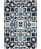 RugStudio presents Chandra Parson Gray Par31103 Ivory/Charcoal/Grey/Blue Hand-Tufted, Good Quality Area Rug