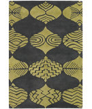 RugStudio presents Chandra Parson Gray Par31108 Charcoal/Green Hand-Tufted, Good Quality Area Rug