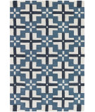 RugStudio presents Chandra Parson Gray Par31109 Blue/Ivory/Charcoal Hand-Tufted, Good Quality Area Rug