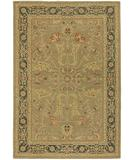 RugStudio presents Chandra Pooja POO407 Tan Hand-Knotted, Good Quality Area Rug