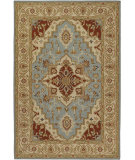 RugStudio presents Chandra Pooja Poo435 Multi Hand-Knotted, Good Quality Area Rug