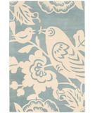 RugStudio presents Chandra Thomas Paul - Tufted Pile Robin Powder-Cream RPC Hand-Tufted, Good Quality Area Rug