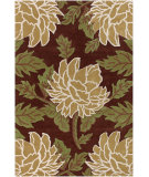 RugStudio presents Chandra Rowe ROW11109 Dark Brown Hand-Tufted, Best Quality Area Rug