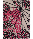 RugStudio presents Chandra Rowe Row11127 Pink Hand-Tufted, Good Quality Area Rug