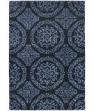 RugStudio presents Chandra Satara Sat16205 Navy/Blue Hand-Tufted, Good Quality Area Rug