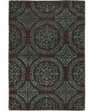 RugStudio presents Chandra Satara SAT16201 Cyan Hand-Tufted, Good Quality Area Rug