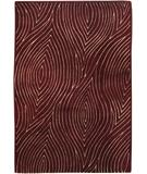 RugStudio presents Chandra Solas SOL12200 Burgundy Hand-Tufted, Good Quality Area Rug