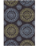 RugStudio presents Chandra Stanton Sta31601 Charcoal/Blue/Green Hand-Tufted, Good Quality Area Rug