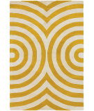 RugStudio presents Chandra Thomas Paul Textiles Geometric T-GEMC Yellow/Cream Hand-Tufted, Good Quality Area Rug