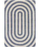 RugStudio presents Chandra Thomas Paul Textiles Geometric T-GESC Grey/Cream Hand-Tufted, Good Quality Area Rug