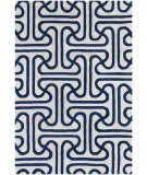 RugStudio presents Chandra Thomas Paul Textiles Ionic T-IOIC Blue/Cream Hand-Tufted, Good Quality Area Rug