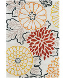 RugStudio presents Chandra Thomas Paul Textiles Kimono T-KIRG Red/White Hand-Tufted, Good Quality Area Rug