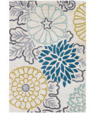RugStudio presents Chandra Thomas Paul Textiles Kimono T-KITK Teal/White Hand-Tufted, Good Quality Area Rug