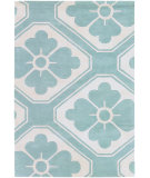 RugStudio presents Chandra Thomas Paul Textiles Obi T-OBAC Teal/Cream Hand-Tufted, Good Quality Area Rug