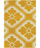 RugStudio presents Chandra Thomas Paul Textiles Obi T-OBMC Gold/Cream Hand-Tufted, Good Quality Area Rug