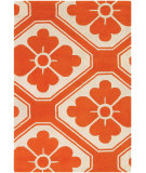 RugStudio presents Chandra Thomas Paul Textiles Obi T-OBPC Orange/Cream Hand-Tufted, Good Quality Area Rug
