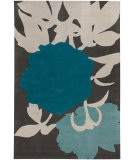 RugStudio presents Chandra Thomas Paul - Tufted Pile T-Pebg Charcoal/Grey/Blue Hand-Tufted, Good Quality Area Rug