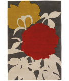 RugStudio presents Chandra Thomas Paul - Tufted Pile T-Perg Charcoal/Grey/Gold/Red Hand-Tufted, Good Quality Area Rug