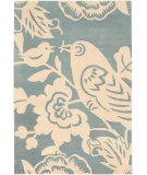 RugStudio presents Chandra Thomas Paul - Tufted Pile T-Rpc Blue/Cream Hand-Tufted, Good Quality Area Rug
