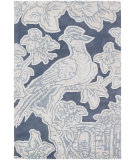 RugStudio presents Chandra Thomas Paul Textiles Toile T-TOSH Blue Hand-Tufted, Good Quality Area Rug