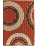 RugStudio presents Chandra Torino TOR9003 Orange/Beige Machine Woven, Good Quality Area Rug