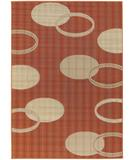 RugStudio presents Chandra Torino TOR9008 Orange/Ivory Machine Woven, Good Quality Area Rug