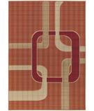 RugStudio presents Chandra Torino TOR9010 Orange/Multi Machine Woven, Good Quality Area Rug