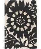 RugStudio presents Chandra Thomas Paul - Tufted Pile Zinnia Ebony-Cream ZIEC Hand-Tufted, Good Quality Area Rug
